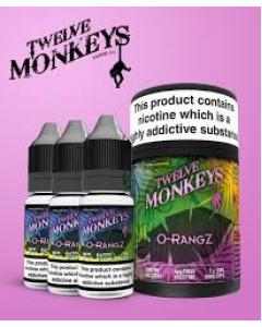 O-rangz E-juice by Twelve Monkeys