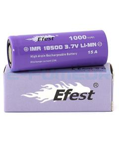 Efest 18500 1000mAh Button Top 18650 Battery